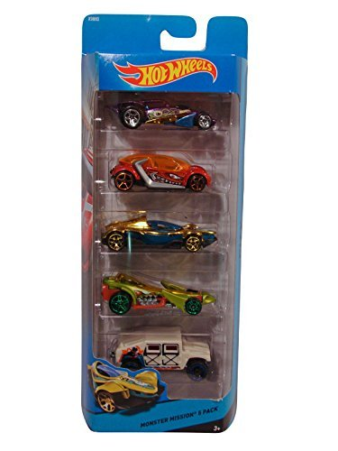 Hot Wheels Monster Mission 5 Car Pack: Humvee - Preying Menace - Brutalistic - HI I.Q. - Formula Street