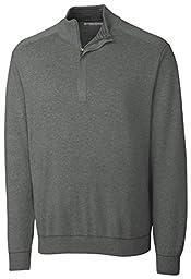 Cutter & Buck Men\'s Big-Tall Broadview Half Zip Sweater, Charcoal Heather, 2XT