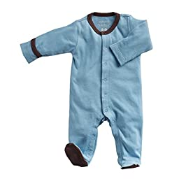 Babysoy Baby Boys\' Footed One Piece - Blue - 3-6 Months