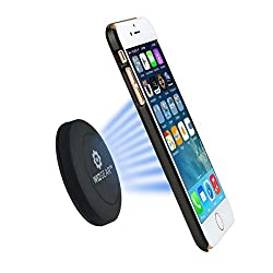 Magnetic Phone Mount, WizGear Universal Stick On Flat Dashboard Magnetic Car Mount Holder, for Cell Phones and Mini Tablets with Fast Swift-snapTM Technology (Extra Slim)