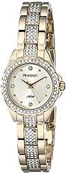 Armitron Women's 75/5250CHGP Swarovski Crystal-Accented Gold-Tone Bracelet Watch