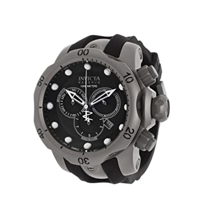 Invicta Men's 14167 Venom Analog Swiss-Quartz Black Watch