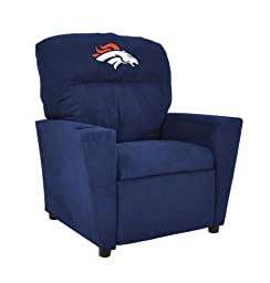 Imperial Officially Licensed NFL Furniture: Pre-Teen Microfiber Recliner, Denver Broncos