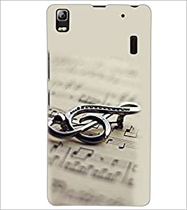 PrintDhaba Staff Notation D-2149 Back Case Cover for LENOVO A7000 (Multi-Coloured)