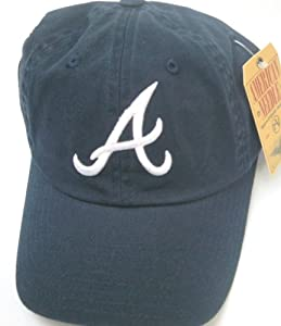 Atlanta Braves MLB Baseball Cap One Size American Needle Cotton Twill Navy by American Needle