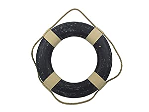 Hampton Nautical  Vintage Blue Decorative Life Ring, 20
