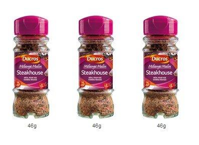 DUCROS - Melanges - Melange en flacons - Melange malin Steakhouse - 46 g - lot de 3
