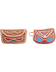 Aryan Exports Girls' Sling Bag (Multi-Colour, Set Of 2, Abc_715)