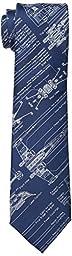Star Wars Men\'s Blue Print Tie, Indigo, One Size