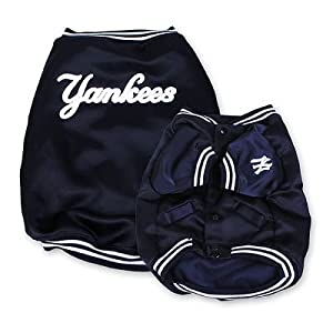 York Yankees Baseball Dog Puppy Pet Dugout Jacket Coat Extra Large Xl Officially Licensed Mlb from Sporty K9