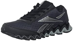 Reebok Men's Zigultra Running Shoe,Black/Rivet Grey/Flat Grey/Pure Silver,10.5 M US