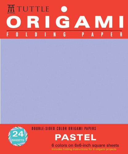 Origami Folding Paper: Pastel: Double-Sided Color Origami Papers: 6 Colors on 6x6-Inch Square Sheets (Origami Paper Packs)