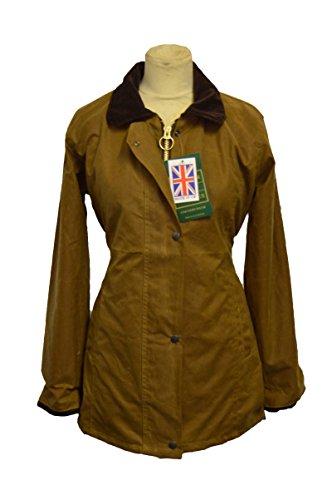 Walker and Hawkes Damen Country-Jacke gewachst - für die Jagd geeignet - klassischer Stil - Beige - Größen 34 bis 44