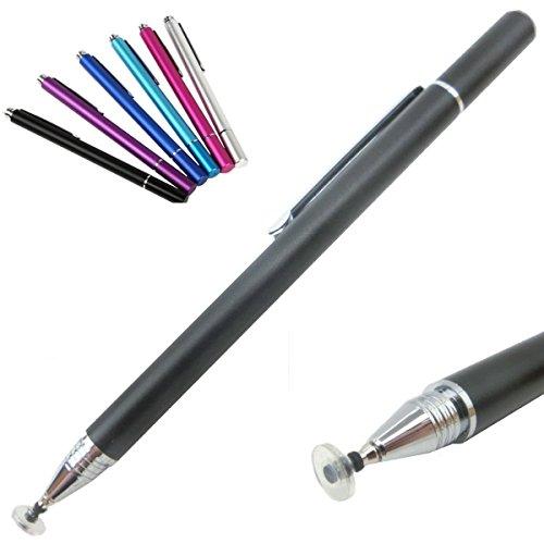 Luna rabbit A 極細 タッチペン スタイラスペン タッチパネル専用 すらすら描ける滑らかさ (黒色)