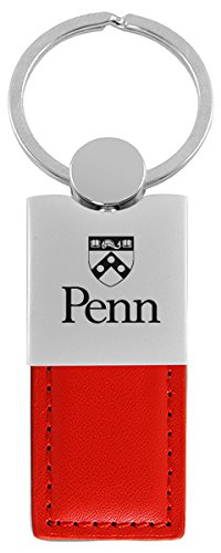 University of Pennsylvania-Leather and Metal Keychain-Red (Upenn Merchandise compare prices)