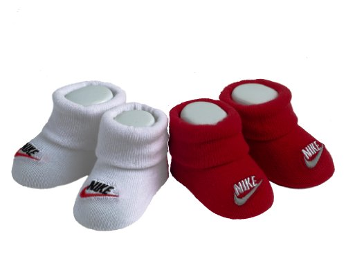 Nike Infant Baby Boys Red/white Booties 0-6 Month