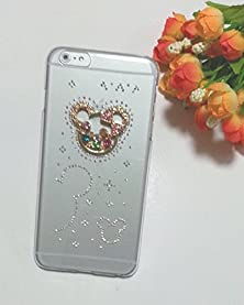 """buy """"Original Case"""" Ultra Slim Transparent Polycarbonate Hard Shell Case With Crystal Decorative Charms For Iphone 6 (4.7 Inch Screen) (Jf-Sj-I6-03)"""