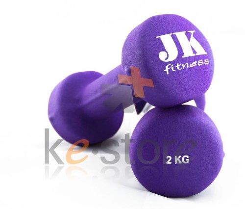 Movi Fintess MN2 Manubrio neoprene kg 2 jk fitness Viola