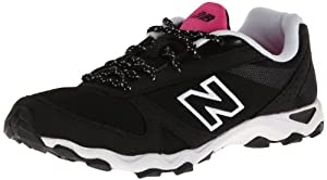 New Balance Women's WL661 Fashio Trail Running Shoe,Black/White/Pink,7.5 B US