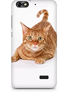 Amez designer printed 3d premium high quality back case cover for Huawei Honor 4C (Golden Cat)