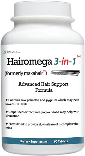 Cheap Hairomega 3-in-1 (was Maxahair) Dht-blocking, Nutrient Providing, Circulation Improving Hair Loss Supplement