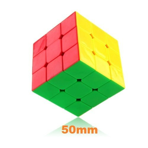 DaYan 50mm ZhanChi 3 x 3 6 Color Stickerless Small 5cm Speed Cube Puzzle - 1
