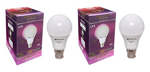 7W LED Bulb (Cool White, Pack of 2)
