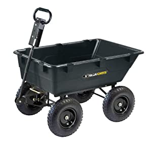 Gorilla Carts Heavy-Duty Garden Poly Dump Cart with 2-in-1 Handle from Gorilla Carts