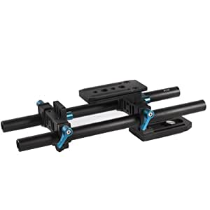 Neewer DP500II DSLR Rail 15mm Rod Support System with Quick Release Plate