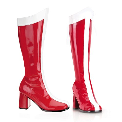 3 Inch Chunky Heel Boots Knee High Superhero