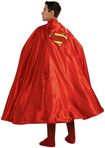 Rubie's Costume Deluxe Adult Cape with Embroidered Superman Logo - One Size