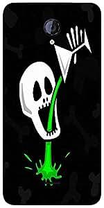 Snoogg Skull Drinking Poison 2787 Designer Protective Back Case Cover For Mic...