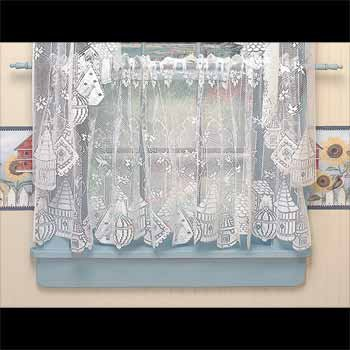 Tier Curtains White Polyester Tier Curtains Birdhouse Lace Sheers 30 X