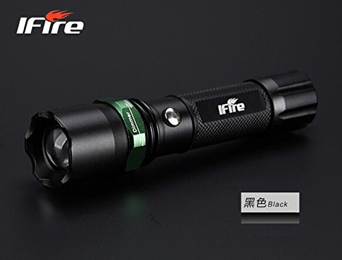Ifire Mini Led Adjustable Focus Flashlight, Super Bright, Batteries Included (Black(Extreme Allocation))