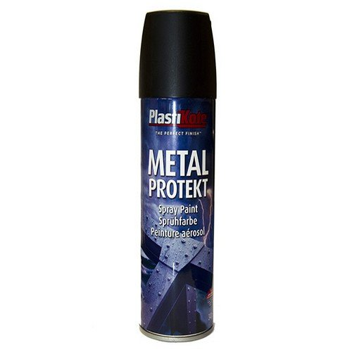 Plasti-kote 1284 400ml Metal Protekt - Matt Black