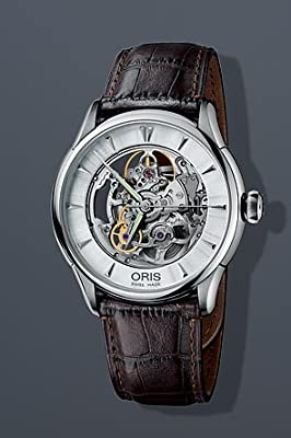 Oris Artelier Automatic Skeleton Dial Stainless Steel Mens Watch 73476704051