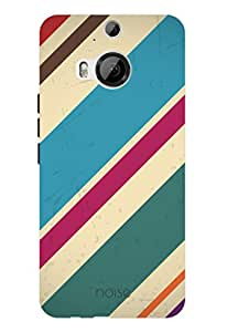 Noise Blue Diagnols Printed Cover for HTC One M9 Plus