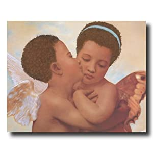 amazoncom african american pluttos kiss cherub angel home decor - African American Home Decor