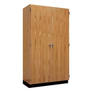 tall wood storage cabinet w oak doors 36 w toys games. Black Bedroom Furniture Sets. Home Design Ideas
