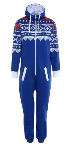 Kids-Unisex-Aztec-Print-Zip-Up-Onesie-Hooded-Jumpsuit-Sleep-Wear-all-in-one-Playsuit