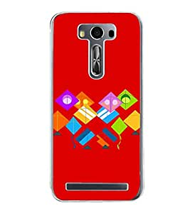 Colourful Kites 2D Hard Polycarbonate Designer Back Case Cover for Asus Zenfone 2 Laser ZE550KL (5.5 INCHES)