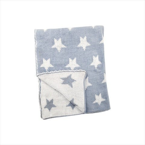 Manual Woodworkers And Weavers Aiipsb Star Blue Baby Fleece Blanket Printed Fleece Polyester 30 X 40 In.