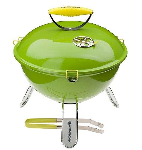 Landmann Piccolino 31373 37cm Portable Charcoal Barbecue - Lime Green