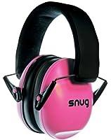 Snug Safe n Sound Kids Earmuffs / Hearing Protectors - Adjustable Headband Ear Defenders For Children and Adults (Pink)