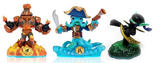 Skylanders Swap Force LOOSE Blast Zone, Wash Buckler, & Ninja Stealth Elf Set Includes Card Online Code - 1