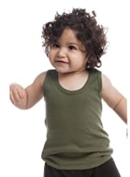 Royal Apparel Baby 2X1 Rib Tank-3/6-Olive