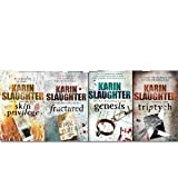 KARIN SLAUGHTER KARIN SLAUGHTER 4 BOOK COLLECTION SET FRACTURED SKIN PRIVILEGE GENESIS TRIPTYCH