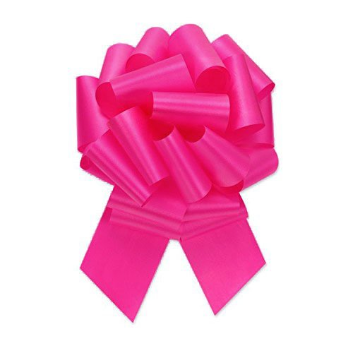 Pull String Bows 5 Inch Cerise (Hot Pink) - 20 Loops Pkg/3 (Pink Package compare prices)