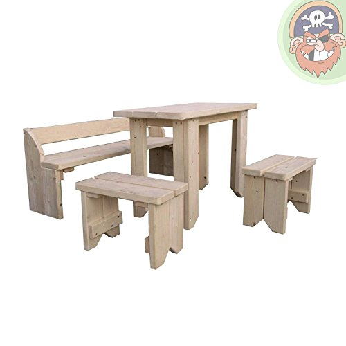kindersitzgruppe holz kinderm bel kindertisch mit st hlen. Black Bedroom Furniture Sets. Home Design Ideas