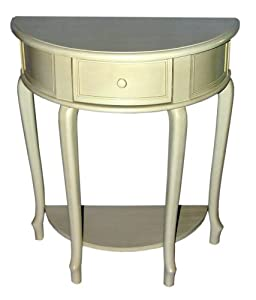 half round accent table white on popscreen. Black Bedroom Furniture Sets. Home Design Ideas